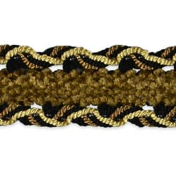 Amore Decorative Gimp trim Black/ Gold