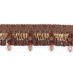 Paige Bead Loop Trim Chocolate Multi