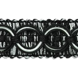 Collette Woven Braid Circle Trim Black/White