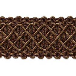 Jolie Lattice Braid Trim Chocolate