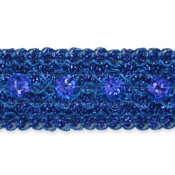 Adriana Sequin Metallic Braid Trim Royal Blue