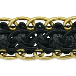Linda Scalloped Braid Trim Black Multi