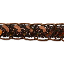 Thea Sequin Braid Cord Trim Brown