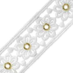 Elaine Summer's Meadow Eyelet Lace Trim 1 1/2