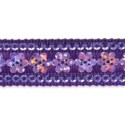Viola Single Row Starlight Sequin Trim with Sequin