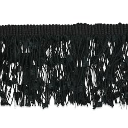 "Marienetta Celebration Fringe Trim 1 3/4"" Black"