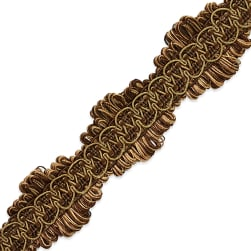Alyssa Woven Braid Trim Brown
