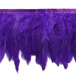 Suzu Feather Fringe Trim Purple