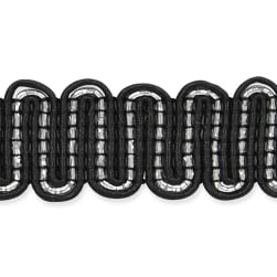Luna Metallic Braid Trim Black/Silver