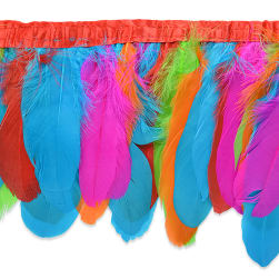 Iva's Party Feather Fringe Trim Multi Colors