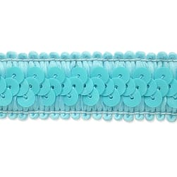 Darcey Sequin Stretch Trim Baby Blue