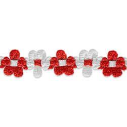 Amy Woven Flower Trim Red
