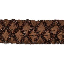 Sereia Sequin Trim Chocolate