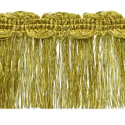 Maeve Metallic Braid Fringe Trim Gold