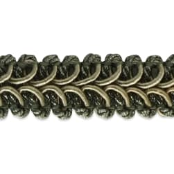 Alice Classic Woven Braid Trim Pewter (Precut, 20