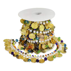 Phaedra Circle Beaded Chain Trim Multi Colors (Precut,