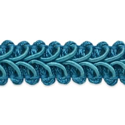 Alice Classic Woven Braid Trim Teal (Precut 20 Yard)
