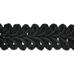 Alice Classic Woven Braid Trim Black (Precut 20 Yard)