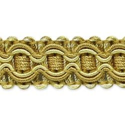 Gabrielle Decorative Braid Trim Beige/Gold (Precut 20 Yard)