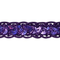 Thea Sequin Cord Braid Trim Purple (Precut 20 Yard)