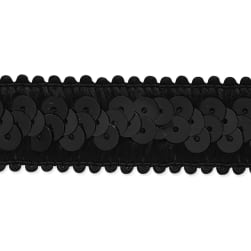 Darcey Sequin Stretch Trim Black (Precut 20 Yard)