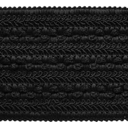 Galo woven Elastic Tape Trim Black (Precut 10 Yard)
