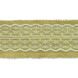 Brylee Jute Lace Trim Natural (Precut, 10 Yards)