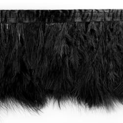 Tristan Feather Trim Black (Precut 5 Yard)