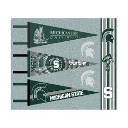NCAA Michigan State Pennants (Set of 3 Unique