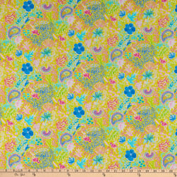 Art Gallery Beach Treasures Incandescent Knit Yellow Fabric