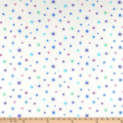 Northcott Cosmic Universe Multi Color Stars White/Indigo