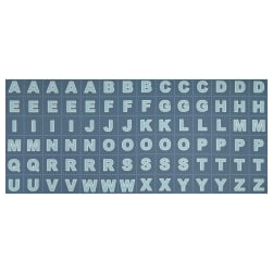 Lewis & Irene Christmas Glow Letters 17.5'' Panel Glow In The Dark Blue Fabric