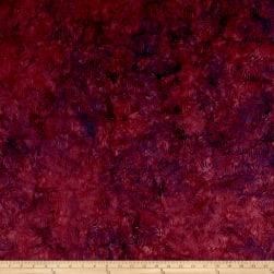 Island Batik British Rose Fountain Plum