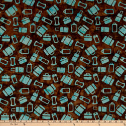 Island Batik Globetrotter Luggage Toss Brownie Fabric