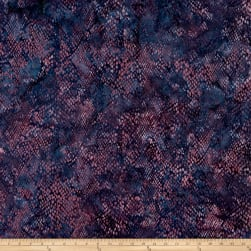 Island Batik Jungle Cruise Snake Skin Blackberry Fabric