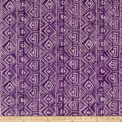 Island Batik Spirit Rhythm Tribal Grape