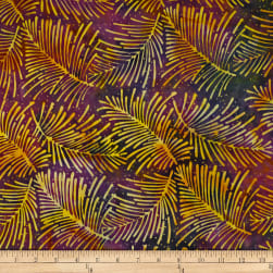 Batik by Mirah Bonanza Palm Leaves Lucky Purple