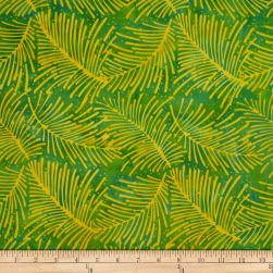 Batik by Mirah Herbiage Palm Leaves Macaw Green