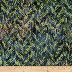Batik by Mirah Peapod Crosshatches Cross Slate Grey