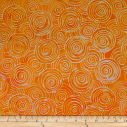Batik by Mirah Peach Bite Swirls Arabeske Orange