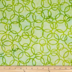 Batik by Mirah Peach Bite Rings Citron Green