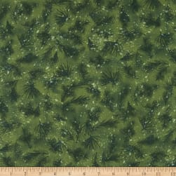 Kaufman Nature's Window Branches Spruce Fabric