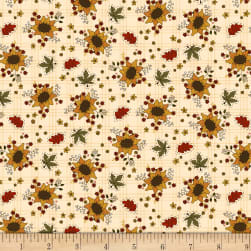 Henry Glass Live Within Your Harvest Sunflower Cream Fabric