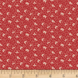 Washington Street Studio One-Room Schoolhouses Floral Vine Red