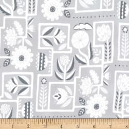 Michael Miller Night Garden Ladyrinth Fog Fabric
