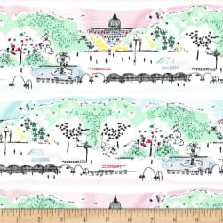 Michael Miller Weekend Getaway Scenic View Blossom Fabric