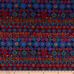 Kaffe Fassett Collective for FreeSpirit Row Flowers Dark