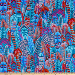 Kaffe Fassett Collective for FreeSpirit Feathers Turquoise
