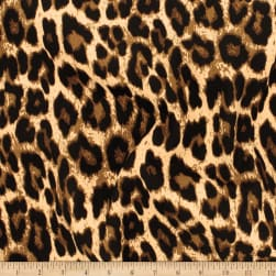 Telio Colorado Poly Faille Animal Leopard Print Caramel
