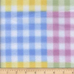 Polar Fleece Gingham Plaid Pastel